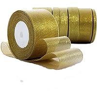 Rollo de cinta de lazo dorada Da.Wa,