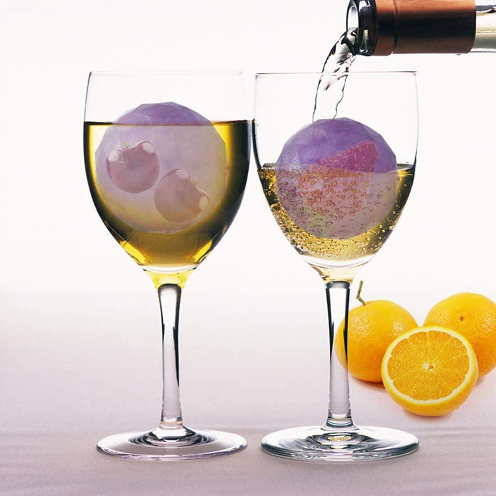 Klauee Ice Ball Mould Moule /à gla/çons Rond pour Cocktails bi/ère Whiskey Bourbon Plateau /à gla/çons en Diamant de qualit/é Alimentaire en Silicone sans BPA et Facile /à lib/érer