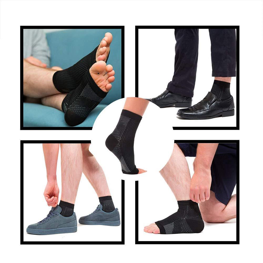 per alleviare gonfiore e spina calcaneare supporto alla caviglia per alleviare rapidamente il dolore 2 paia di calzini a compressione per fascite plantare colore bianco