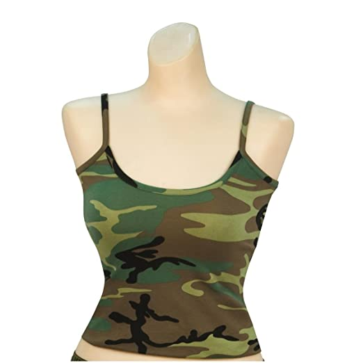 c0a736ade7b89 Image Unavailable. Image not available for. Color: Rothco Women's Casual Tank  Top, Woodland Green Camouflage ...