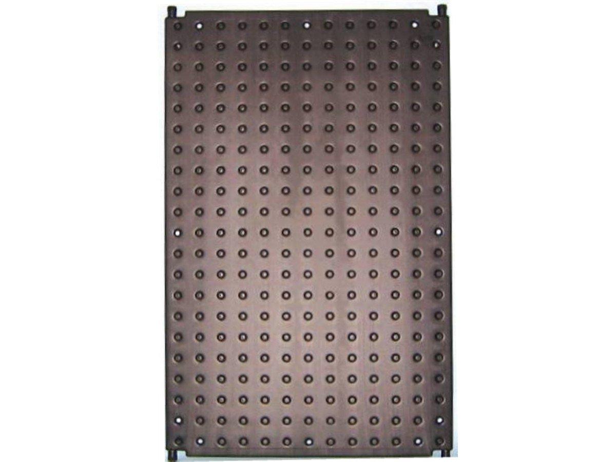 schwarz mit 2 Anschlussstutzen Pool Schwimmbad OKU-Absorber F1000 d 25 mm und einseitig integriertem Sammelrohr d=40 mm Abmessung 1320 x 820 mm