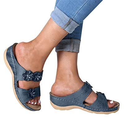 Gibobby Sandals for Women Wide Width,2020 Summer Comfy Platforms Sandal Shoes Beach Holllow Shoe Casual Flip Flops Slippers: Clothing