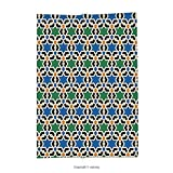 Custom printed Throw Blanket with Moroccan Decor Collection Geometric Hexagonal Pattern Stars Islamic Decorating Style Eastern Zellige Art Super soft and Cozy Fleece Blanket