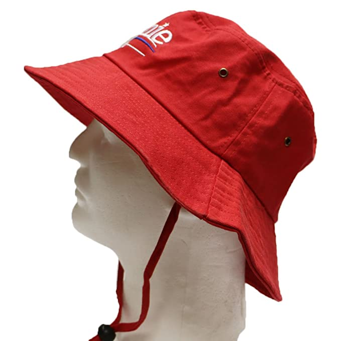 87f36e11c96 Bd2024 Bernie 2016 Bucket Hat with String Red at Amazon Men s Clothing  store