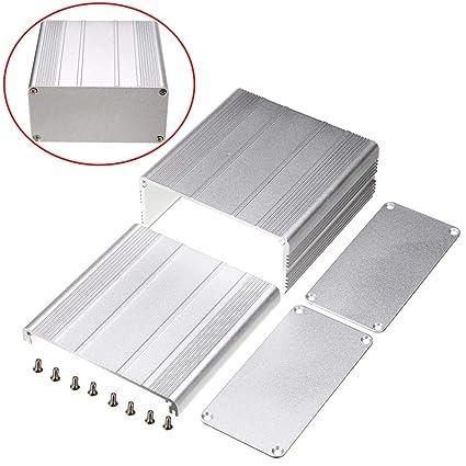 1pc Aluminum Enclosure Case Silver DIY Electronic Project PCB Instrument Box