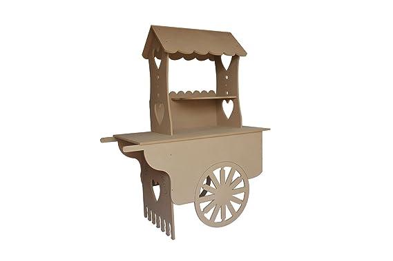 ASVP Shop® Carro carros de Candy boda dulces carrito para bautizo, ideal para celebraciones: Amazon.es: Hogar