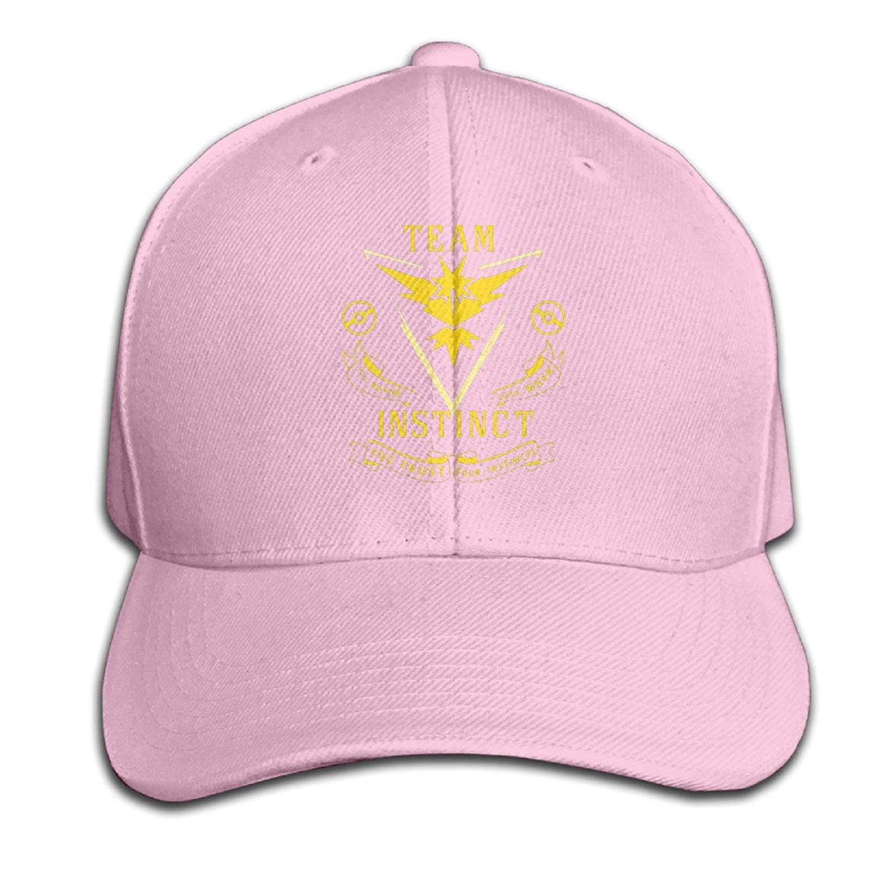 Unisex Hats Team Instinct (Pokemon GO Inspired) - Yellow Vinyl Decal Black Cricket Vintage Snapbacks Cap