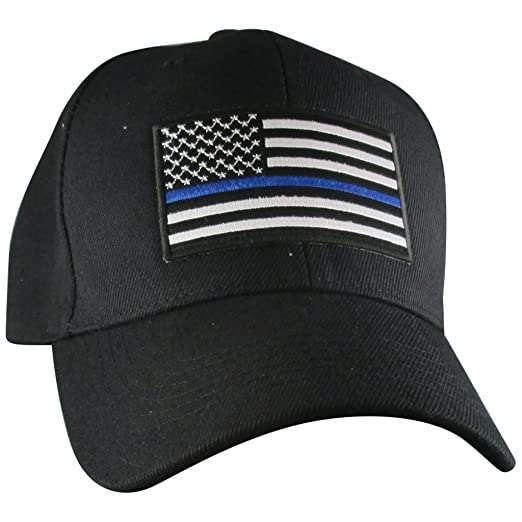 2a1c7d0e76f Image Unavailable. Image not available for. Color  AffinityAddOns Thin Blue  Line USA Hat ...