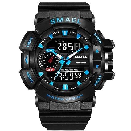 JBP Max Mens Deportes Impermeable Reloj Multi-Función Reloj Digital De Moda Deportes Impermeables Doble