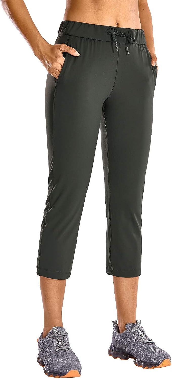 CRZ YOGA Mujer Pantalones Deportivos Ch/ándal Jogger con Bolsillo para Fitness