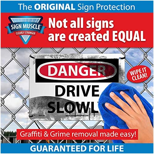 """NMC C395RB OSHA Sign, """"CAUTION PERSONAL PROTECTIVE EQUIPMENT REQUIRED BEYOND THIS POINT"""", 14"""" Width x 10"""" Height, Rigid Plastic, Black On Yellow  """
