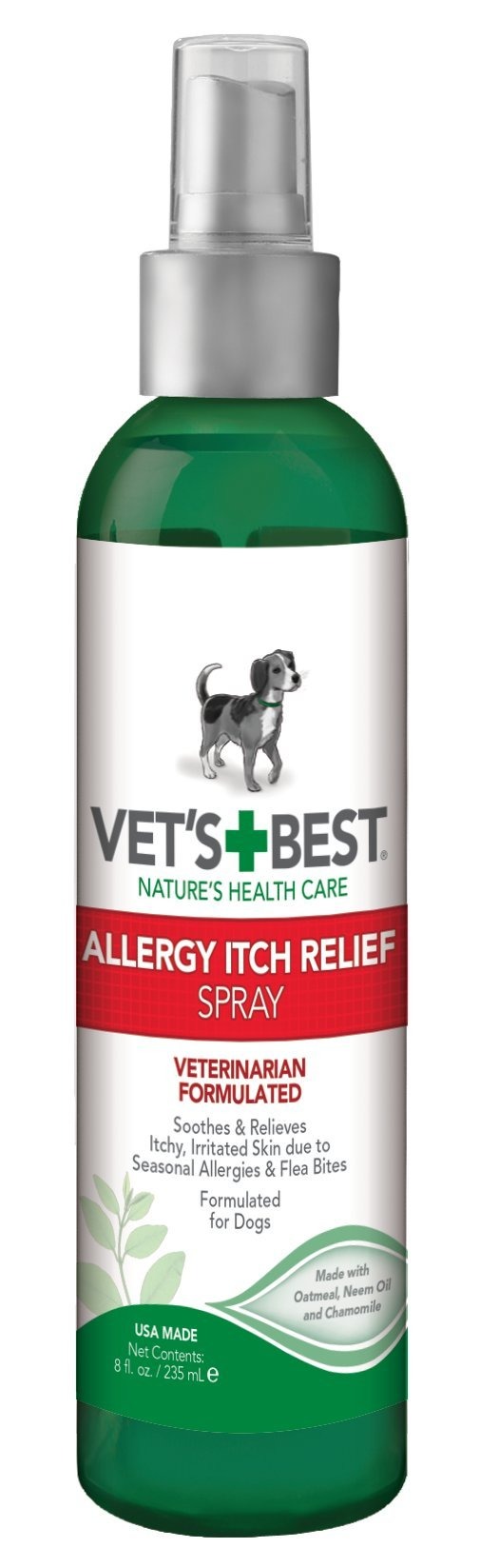 Vet's Best Allergy Itch Relief Spray for Dogs, 8 oz
