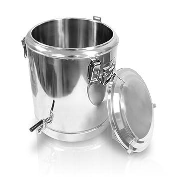 edelstahl speisewarmhaltebehälter 50x50 cm 70 liter mit hahn ... - Edelstahlbehälter Küche