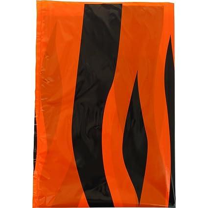 Fixo 72106 - Pack de 5 bolsas disfraz, 65 x 90 cm, color multicolor (naranja/negro)