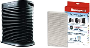 Honeywell True HEPA Allergen Remover, 465 sq. Ft, HPA300 &True HEPA Replacement Filter, Single Unit
