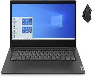 """2021 Newest Lenovo Ideapad 3 Premium Laptop, 14"""" HD Display, Intel Pentium Gold 6405U 2.4 GHz, 8GB DDR4 RAM, 128GB NVMe M.2 SSD, Bluetooth 5.0, Webcam, WiFi, HDMI, Windows 10 S, Black + Oydisen Cloth"""