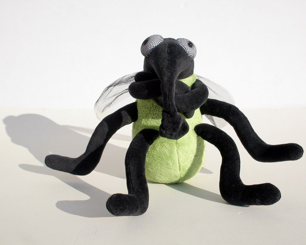 stuffed animal funny soft toy Plush Halloween Toy Green House Fly plushie Insect