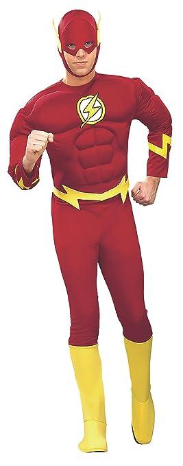 Rubies - Disfraz de superhéroe para hombre Flash 90b9b0eaf37