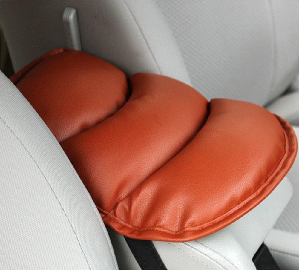 Cuscino del bracciolo auto Pelle tra i sedili, Protezione spalla,Estruso, impermeabile, confortevole, anti-attrito, anti-invecchiamento, resistenza alla corrosione Marrone mufly