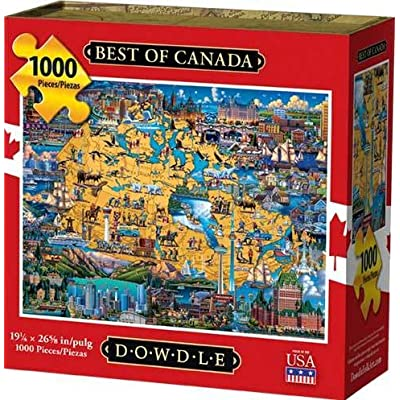 Dowdle Jigsaw Puzzle - Best of Canada - 1000 Piece: Toys & Games