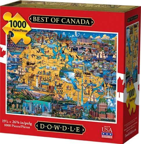 (Dowdle Jigsaw Puzzle - Best of Canada - 1000 Piece)