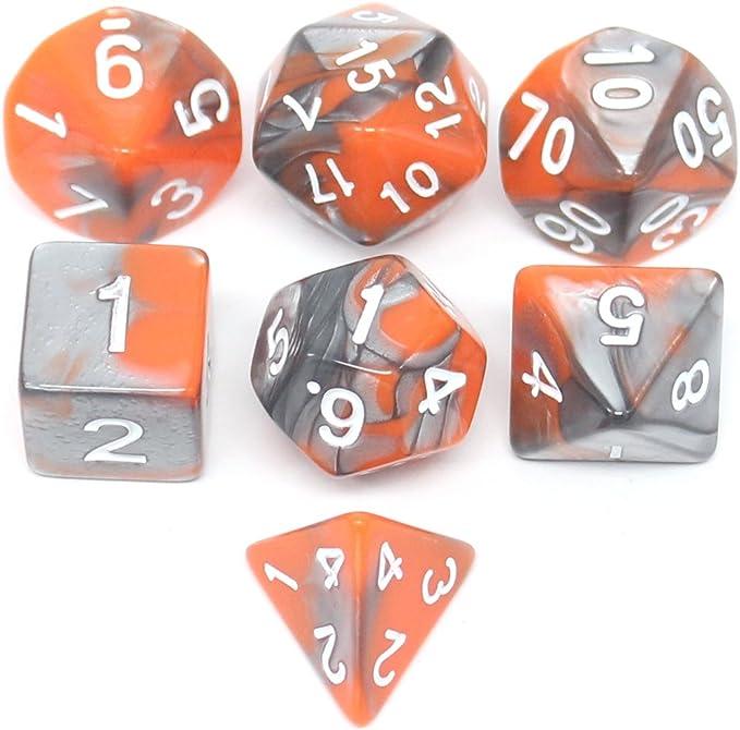 lzwin 7 DIE Gemini Polyhedral dados Set con bolsa de terciopelo ...