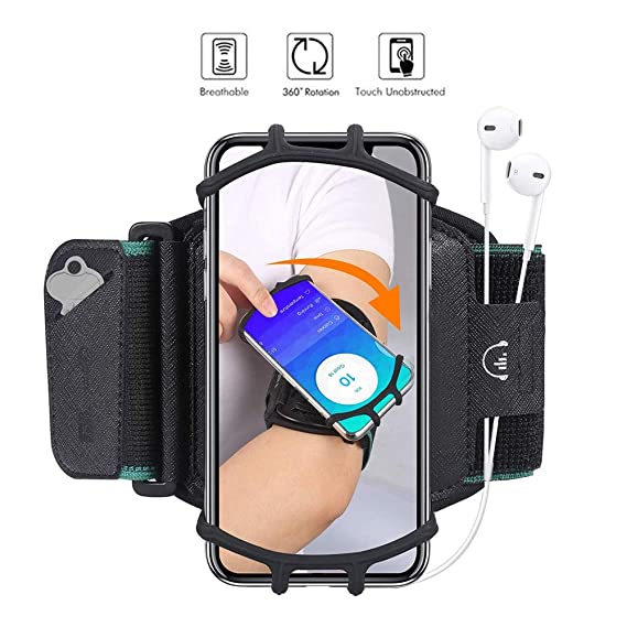 Durable Jogging Phone Holder Fitness Pouch Case Running Bag Universal Gym Wristband Strap Sport Cycling Hiking Mobile Phone Accessories Armbands