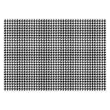 The Softer Side of Weather Guard Houndstooth 44-Inch x 102-Inch Area Mat in Black