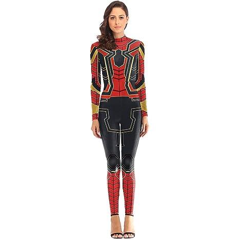 QWEASZER Marvel Avengers Iron Spider-Man Disfraz de Mujer ...
