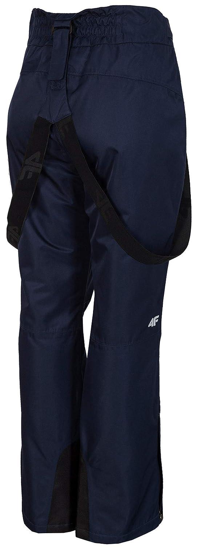 Colonna dAcqua 5.000 mm con Protezioni Laterali e Bretelle Rimovibili 4F Pantaloni da Sci da Donna Impermeabili
