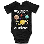 Forget Princess I Want To Be An Astrophysicist Toddler Baby Outfit Creeper Short Sleeves Vest Rompers