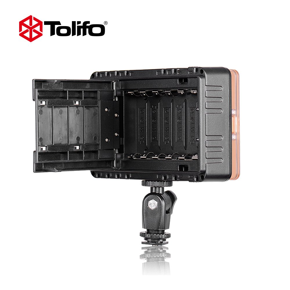 Tolifo Pt-c-160b Dimmable Ultra High Power Panel Digital Camera / Camcorder Video Light, LED Light for Canon, Nikon, Pentax, Panasonic,SONY, Samsung and Olympus Digital SLR Cameras