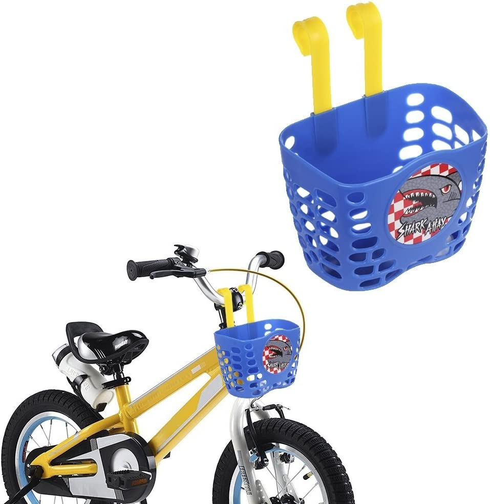 Bike Basket for Kids Boys Girls Bicycle Basket Plastic Knitted Gift Nice t