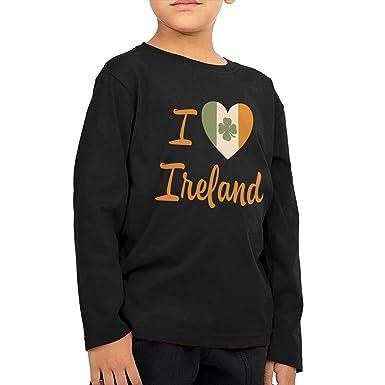 Amazon Com I Love Ireland Unisex Kids Cotton Long Sleeve Crew Neck