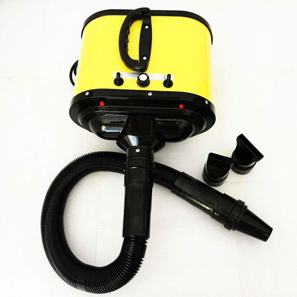 Yellow Two-Speed Heated Pet Hair Dryer High-Powered Dog Hair Dryer Infinitely Variable Dog Cat Pet Grooming Hair Dryer,Yellow