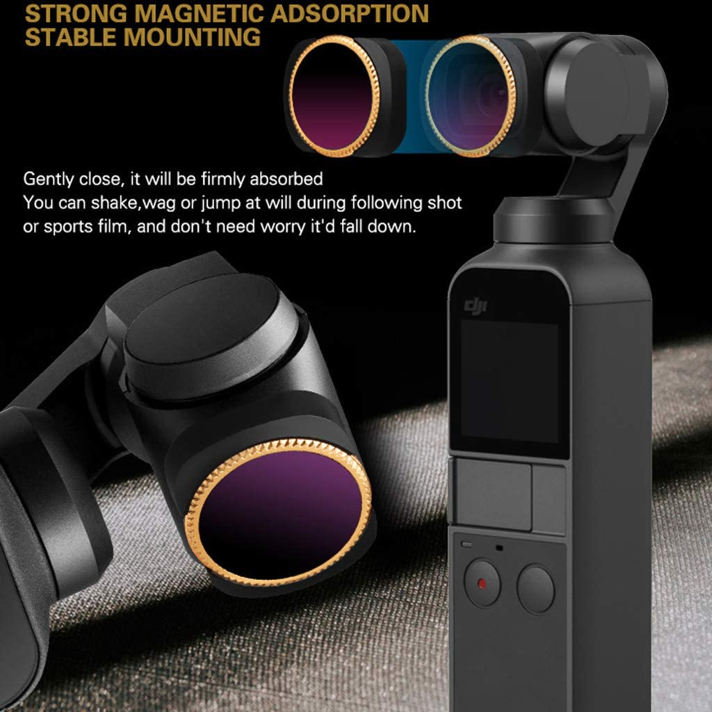 Lens Filters Compatible with DJI OSMO Pocket Camera 5Packs ND4-PL + ND8-PL + ND16-PL + ND32-PL + ND64-PL Samoii Shipping from USA