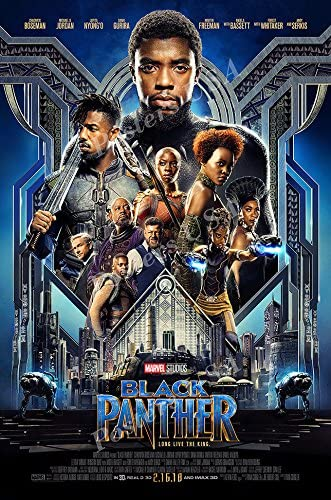 Amazon Com Ship From Usa Marvel Black Panther Movie Poster Glossy Finish Fil688 24 X 36 61cm X 91 5cm Posters Prints