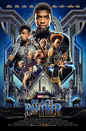"""Posters USA - Marvel Black Panther Movie Poster GLOSSY FINISH - FIL688 (24"""" x 36"""" (61cm x 91.5cm))"""