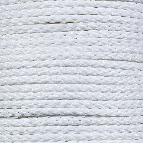 White Hollow Braid Polypropylene Barrier Rope - (3/8 Inch X 100 ()