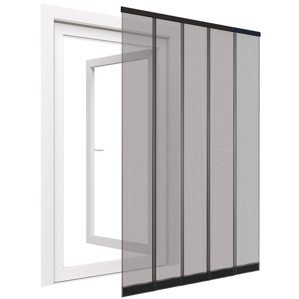 negro Cortina de puerta mosquitera para puerta de discos de hasta 125 x 240 cm