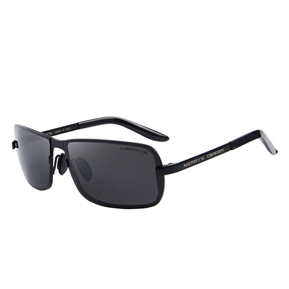 MERRY'S - Lunettes de soleil - Homme noir Black&Black r8EaQ0ET