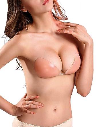 Zaiqun Soutien-gorge femme en silicone adh eacute sif pour remonter la  poitrine Sans bretelles 35ee7507a79