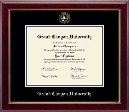 Grand Canyon University Gold Embossed Diploma Frame - Solid Hardwood ...