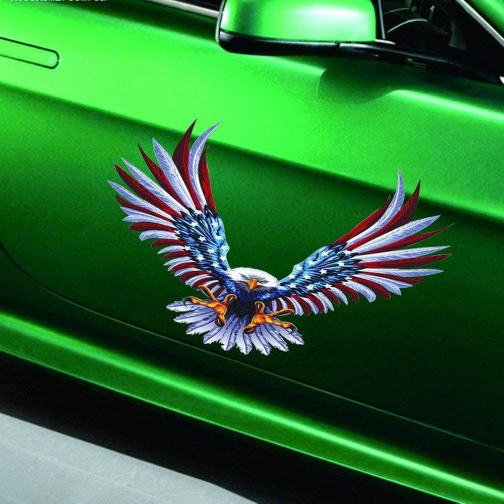 Car Decal Graphics Vinyl Stickers Decals for Cars Practisol Bald Eagle Car Decals American Flag Sticker 3 Sizes 4 Pack