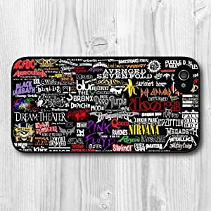 New Fashion Design Rock Bands Pattern Protective Hard Phone Cover Skin For Case HTC One M7 Cover +Screen Protector