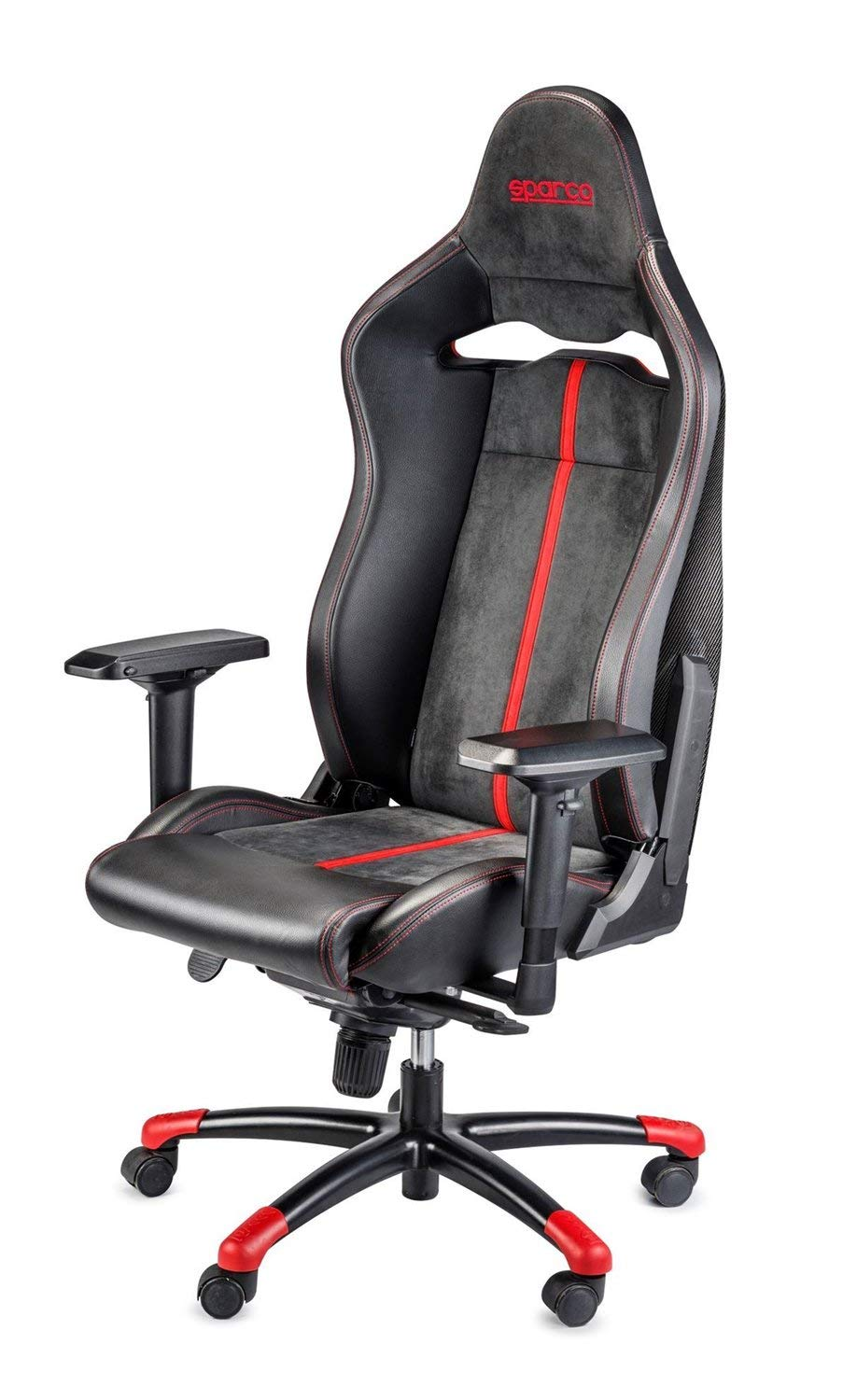 Sparco S00986ZNRRS Silla Oficina/Gaming Comp C Carbon Negro/Red: Amazon.es: Coche y moto