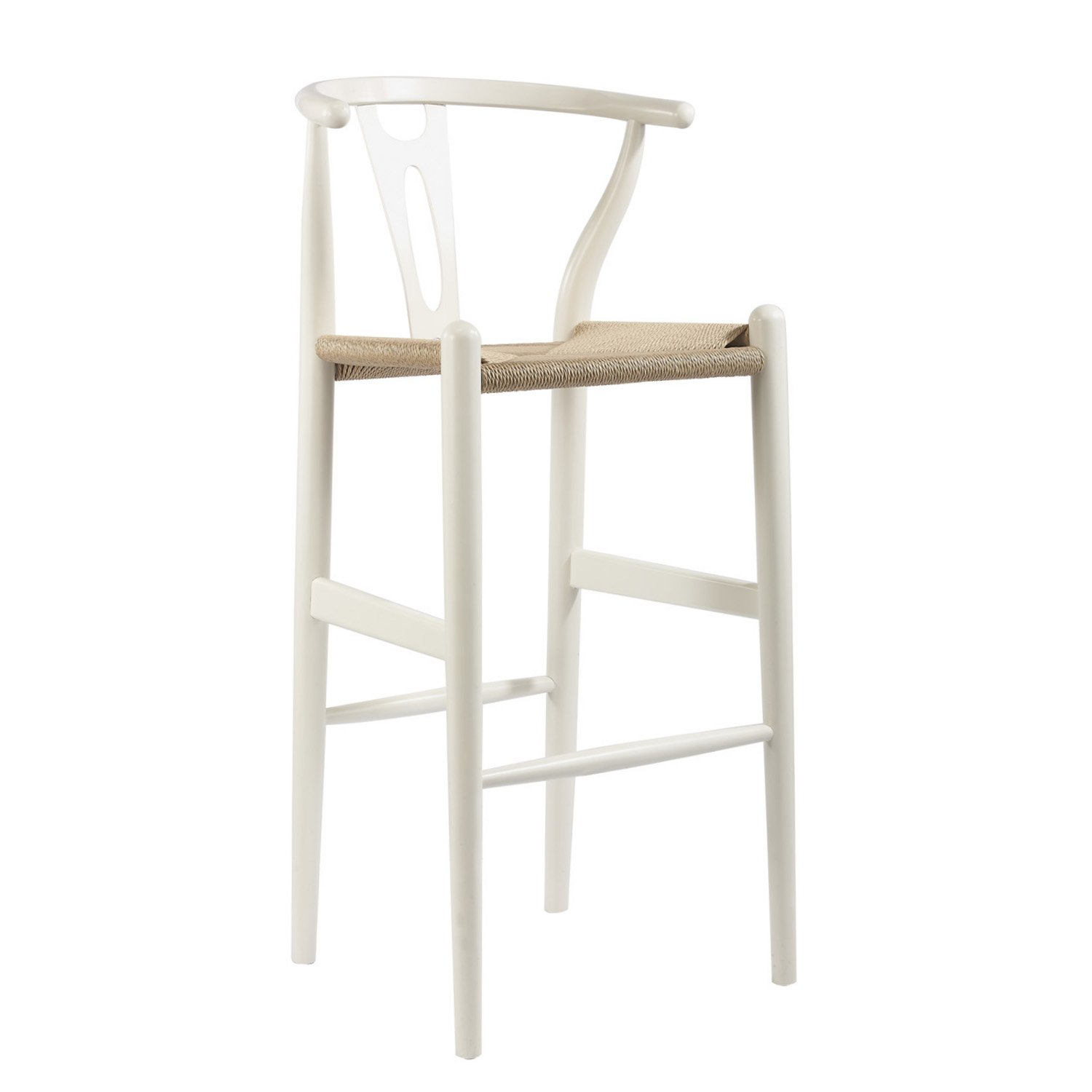 Amazon.com Baxton Studio Mid-Century Modern Wishbone Wood-Y Stool White Kitchen u0026 Dining  sc 1 st  Amazon.com & Amazon.com: Baxton Studio Mid-Century Modern Wishbone Wood-Y Stool ... islam-shia.org