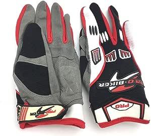 Pro-Biker Motorcycle Full Finger Gloves, Multi Color - C30-1