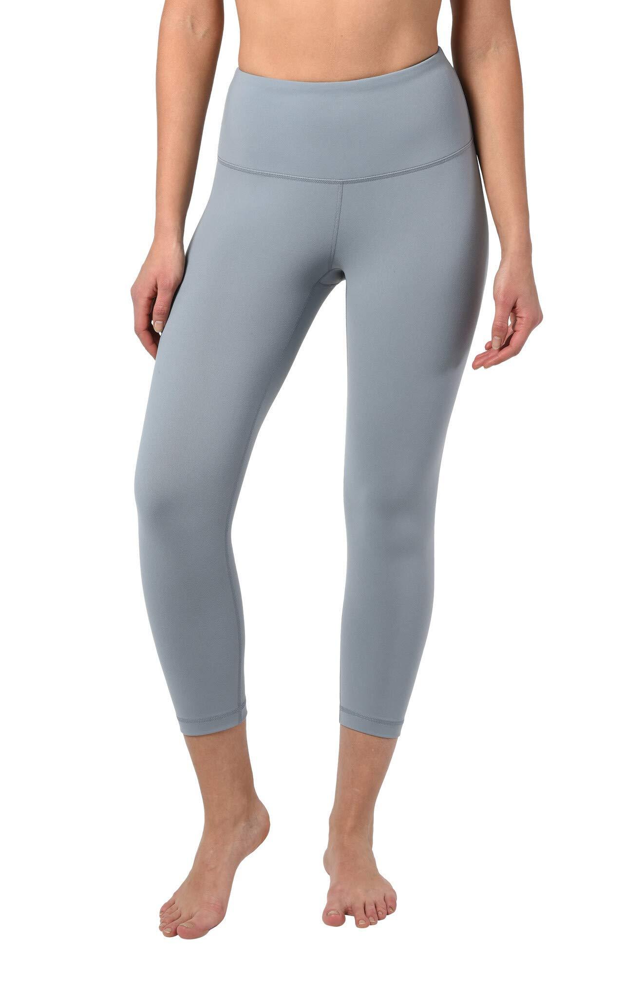 90 Degree By Reflex - High Waist Tummy Control Shapewear - Power Flex Capri - Skylight - Small by 90 Degree By Reflex