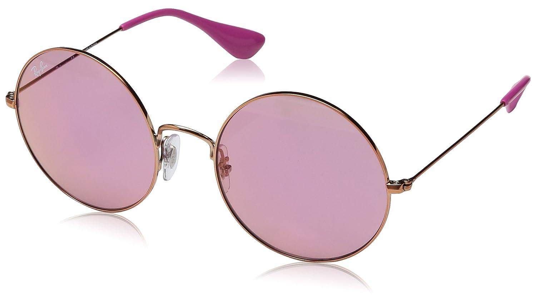 59aff7c83 Ray-Ban Women's Metal Woman Non-Polarized Iridium Round Sunglasses ...